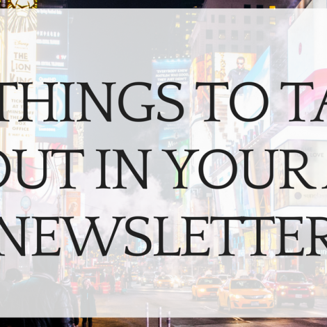 23 Things to Talk About In Your Art Newsletter
