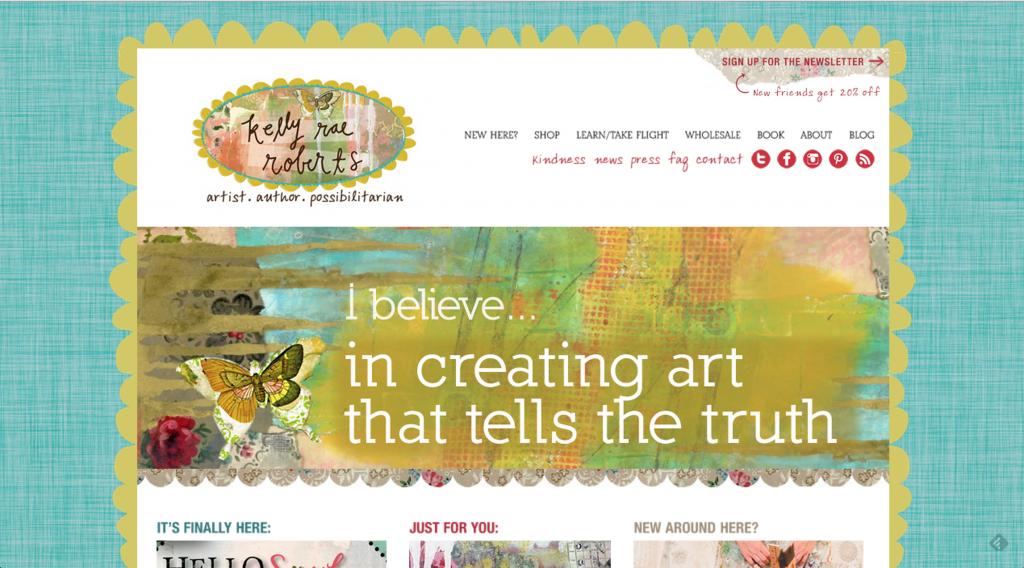 Kelly Rae Roberts website