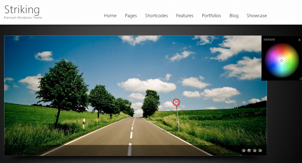 Striking WordPress theme by Kaptinlin