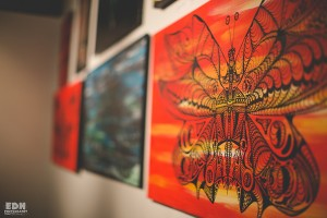 Kenal Louis Painting at Solo Exhibition