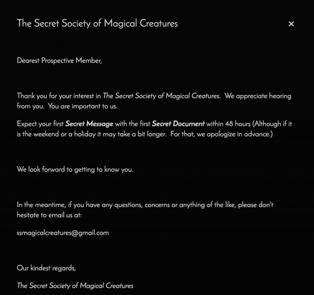 Kojima confirmation page