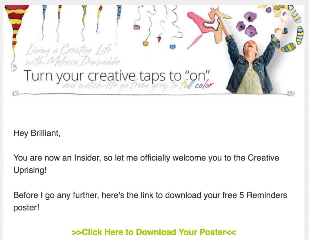 melissa dinwiddie final welcome email