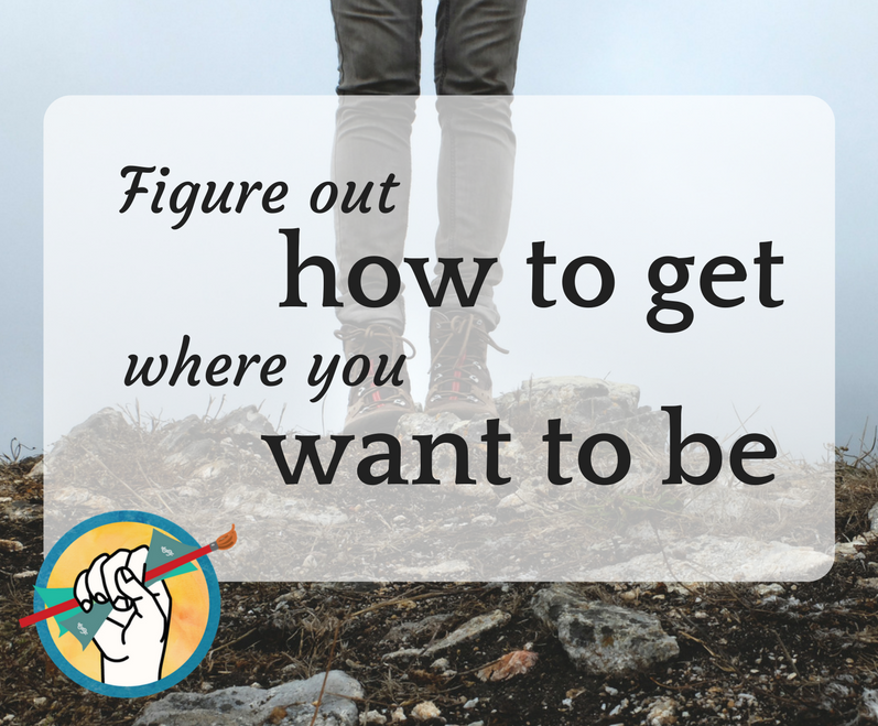 Figure out how to get where you want to be