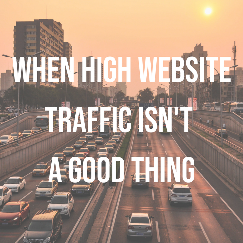 Are traffic analytics reliable? If the traffic is too high maybe not.. Picture of traffic.