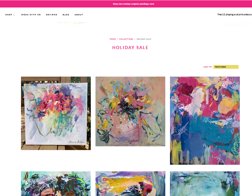 Amira Rahim shop page