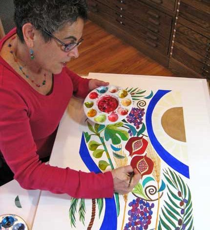 Member of the Week: Nina Bonos, Painting Vibrant, Sacred Forces.