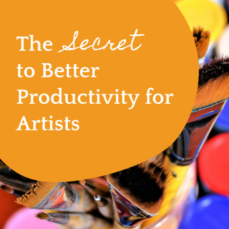 The secret to better productivity for artists